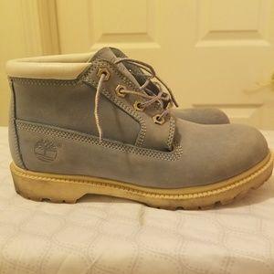 Powder Blue Womens Timberland Boots size 8M!!